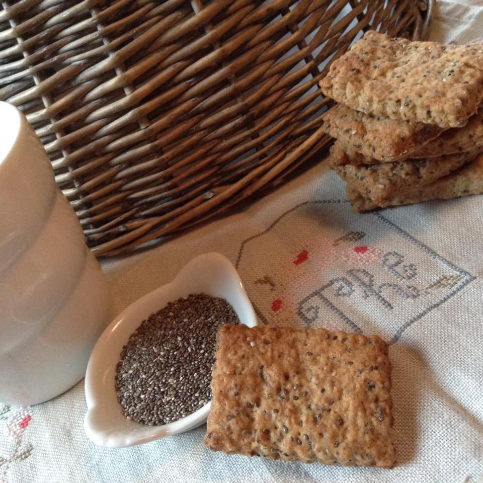 Biscuits à l'orange et graines de chia
