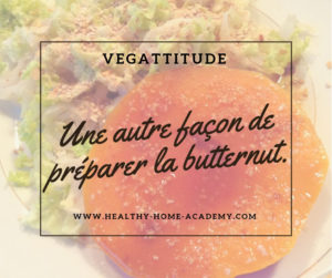 """Steak"" de butternut sur mix de salade"